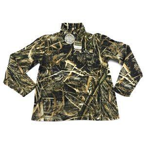 Drake Mens MST Camp 1/4 Zip Fleece Pullover Size L